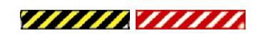 жълто-черните или червено-белите ивици